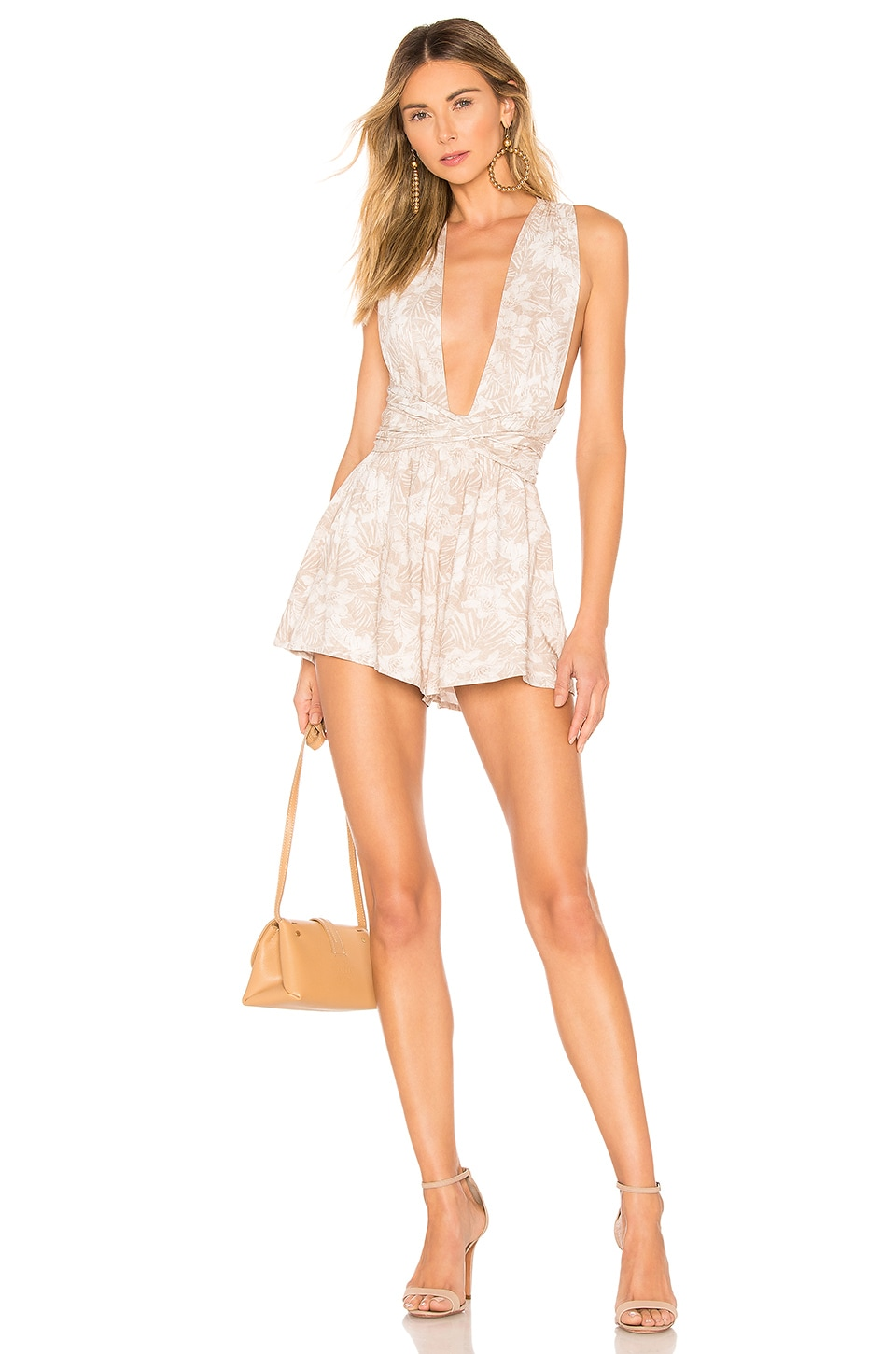 MAJORELLE Callie Romper in Tropical Tan