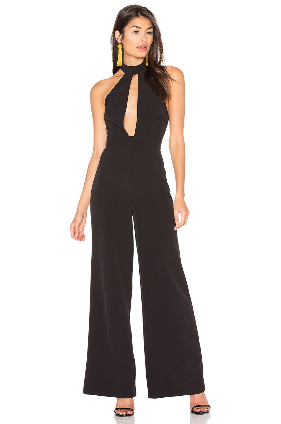 MAJORELLE Sierre Siren Jumpsuit in Black