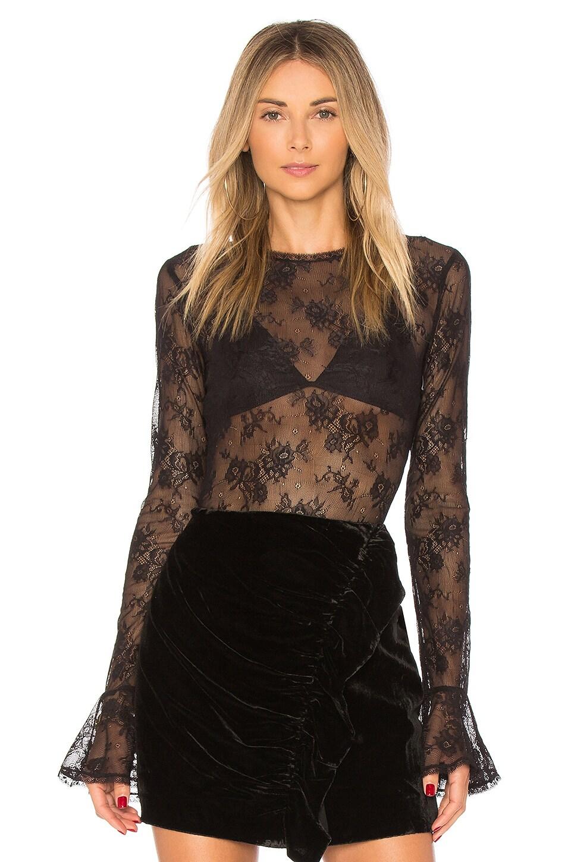 MAJORELLE Adalynn Bodysuit in Black