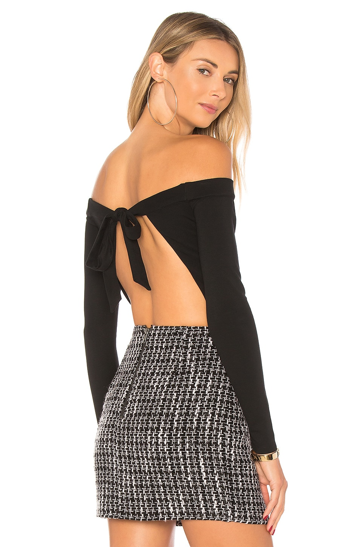 MAJORELLE Viper Bodysuit in Black
