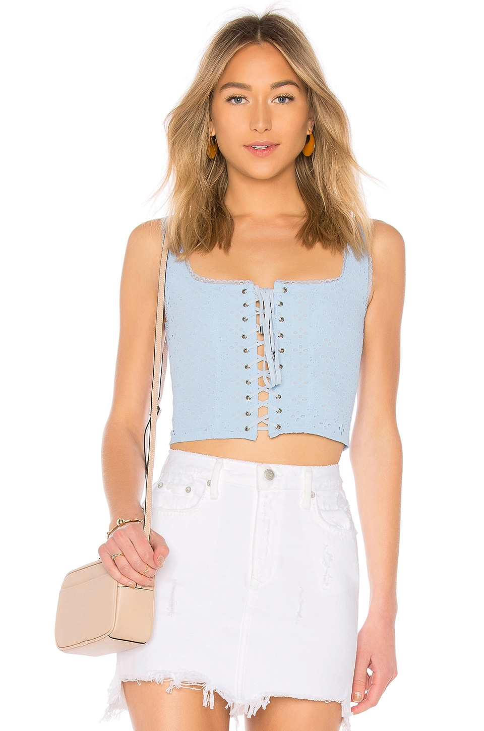 MAJORELLE Kent Top in Bluebird