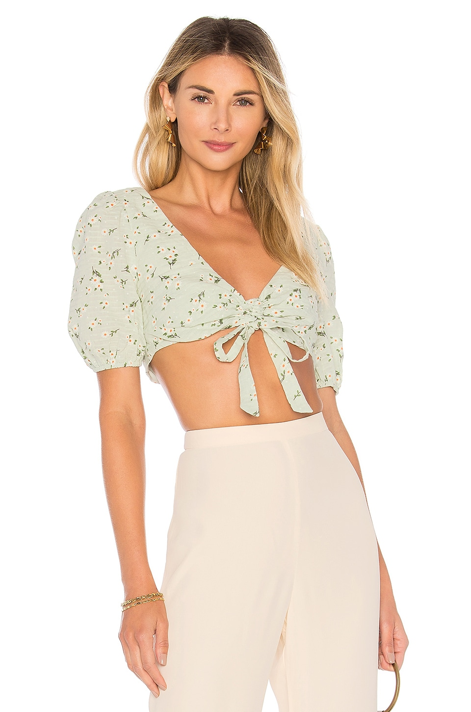 MAJORELLE TOP CROPPED MANCHES COURTES PERRY