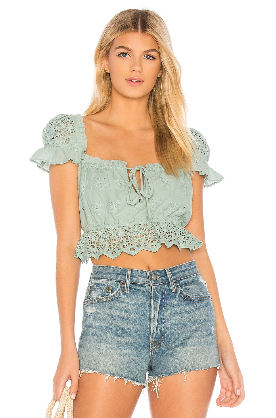 MAJORELLE Libby Top in Jade Green
