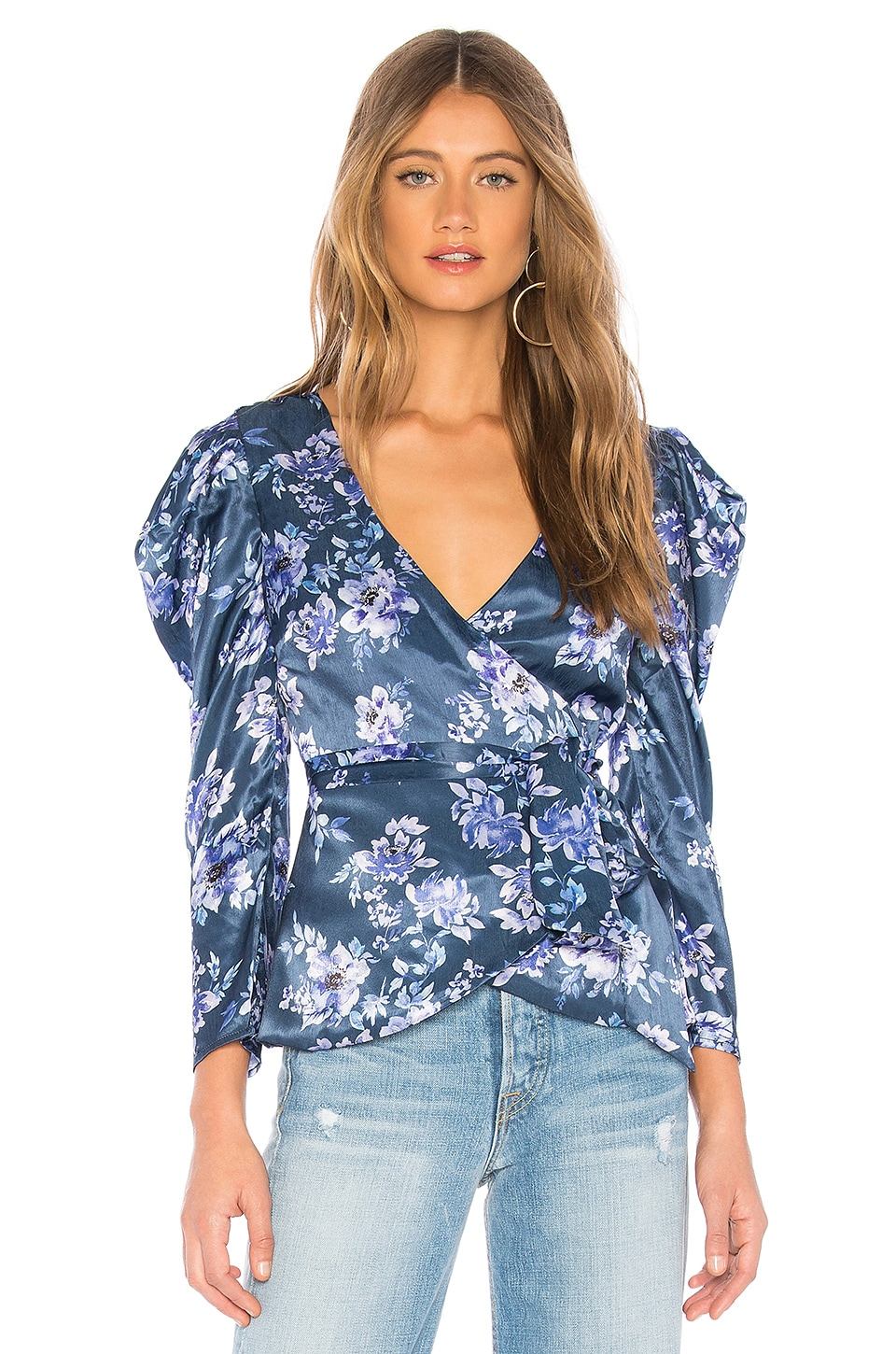 MAJORELLE Baylor Top in Rainwater Blue