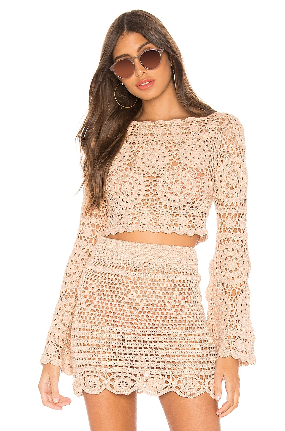 MAJORELLE Harvest Crop Top in Sand