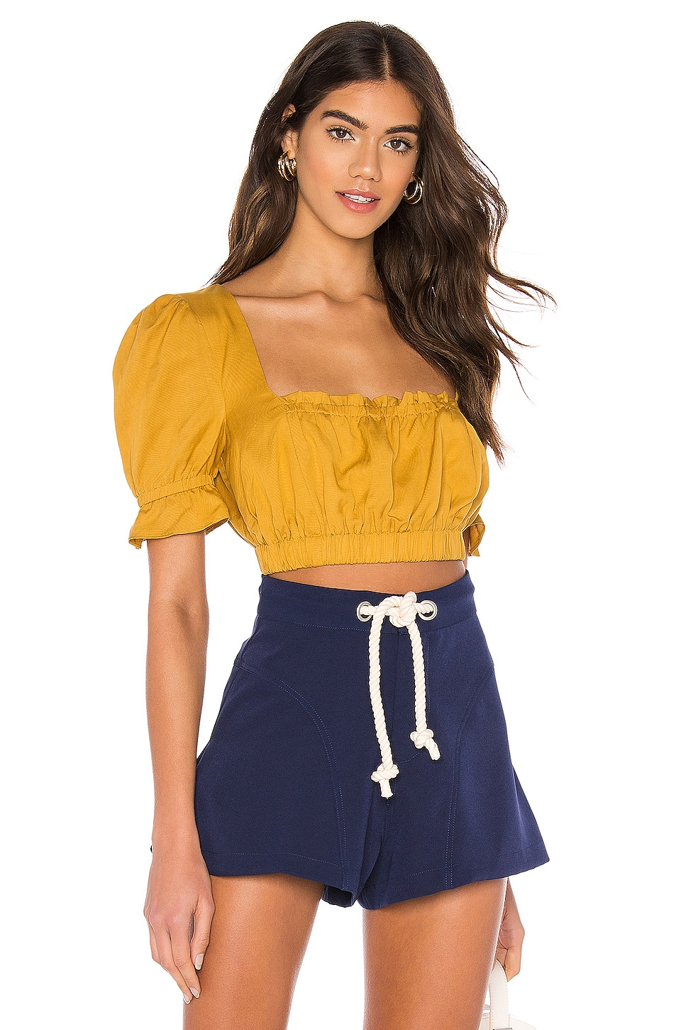 MAJORELLE Layla Top in Yellow
