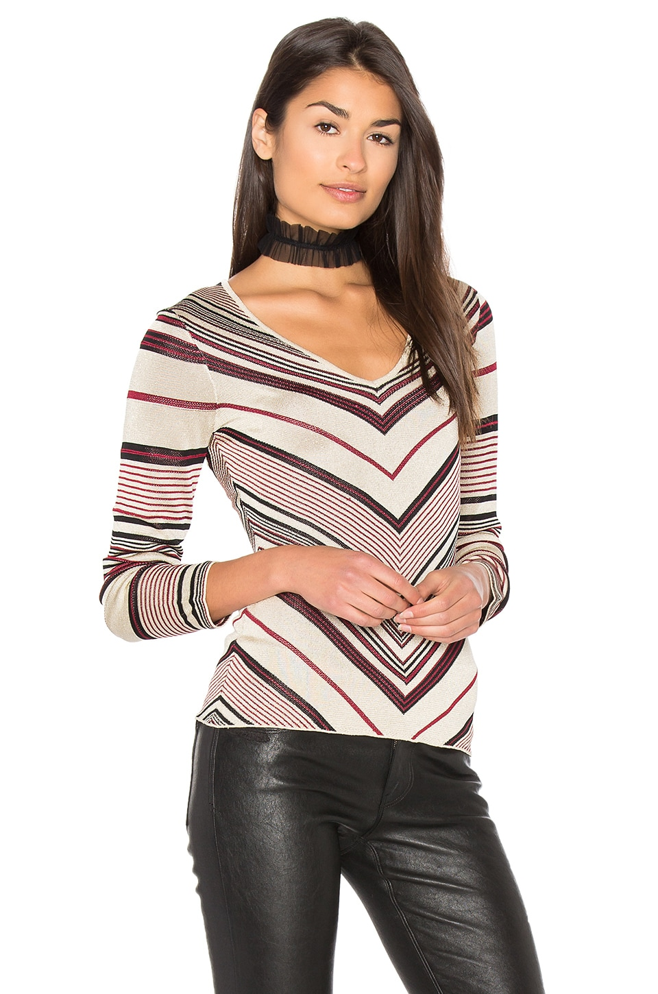 MAJORELLE Before Sunset Top in Lurex Stripe