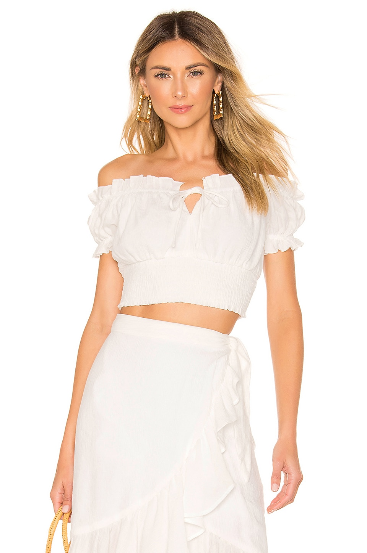 MAJORELLE Pauline Top in White