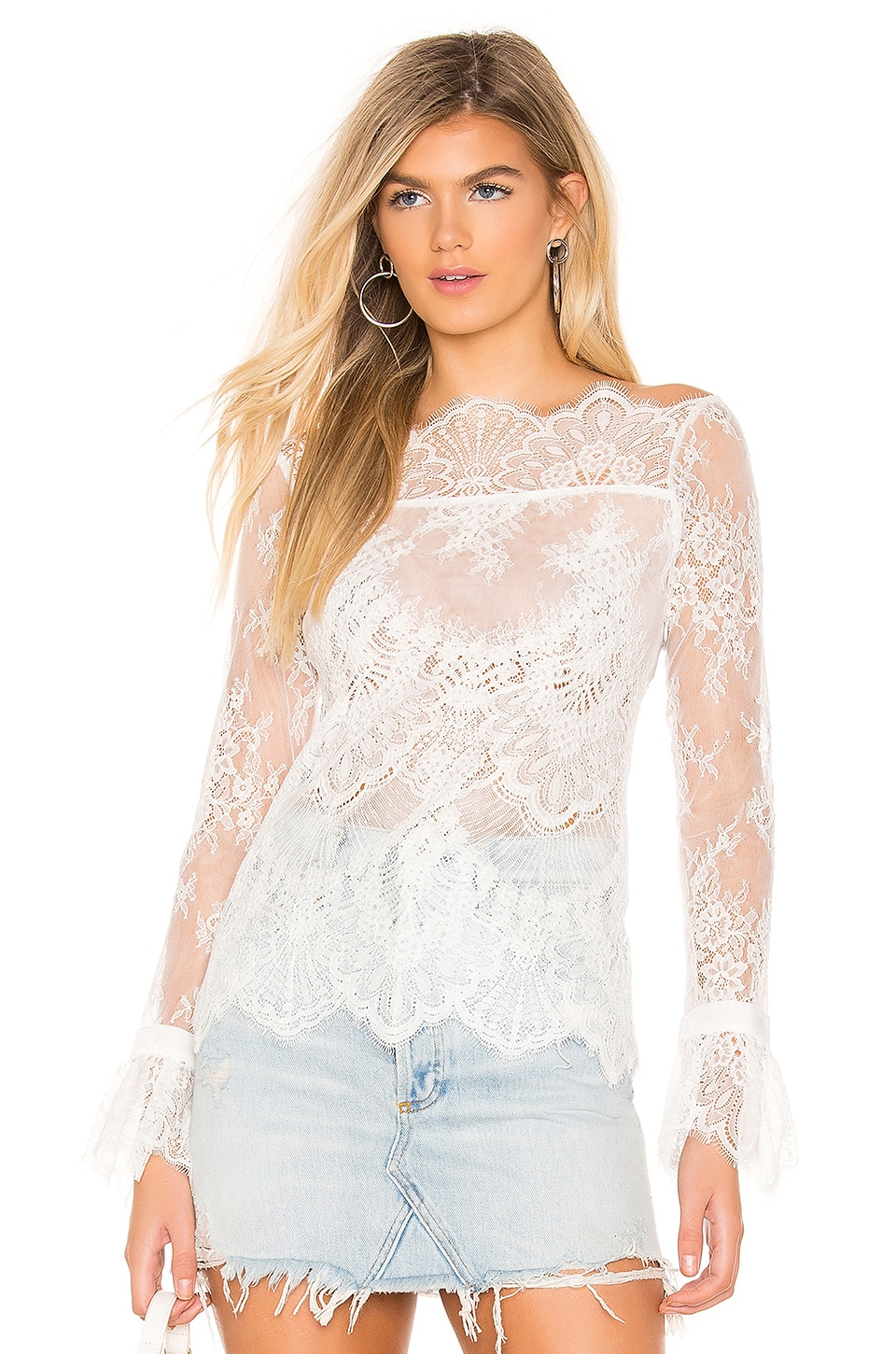 MAJORELLE Samantha Top in White