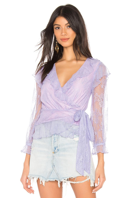 MAJORELLE Mary Top in Amethyst Purple