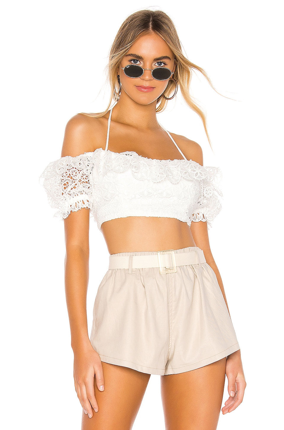 MAJORELLE Ria Top in White