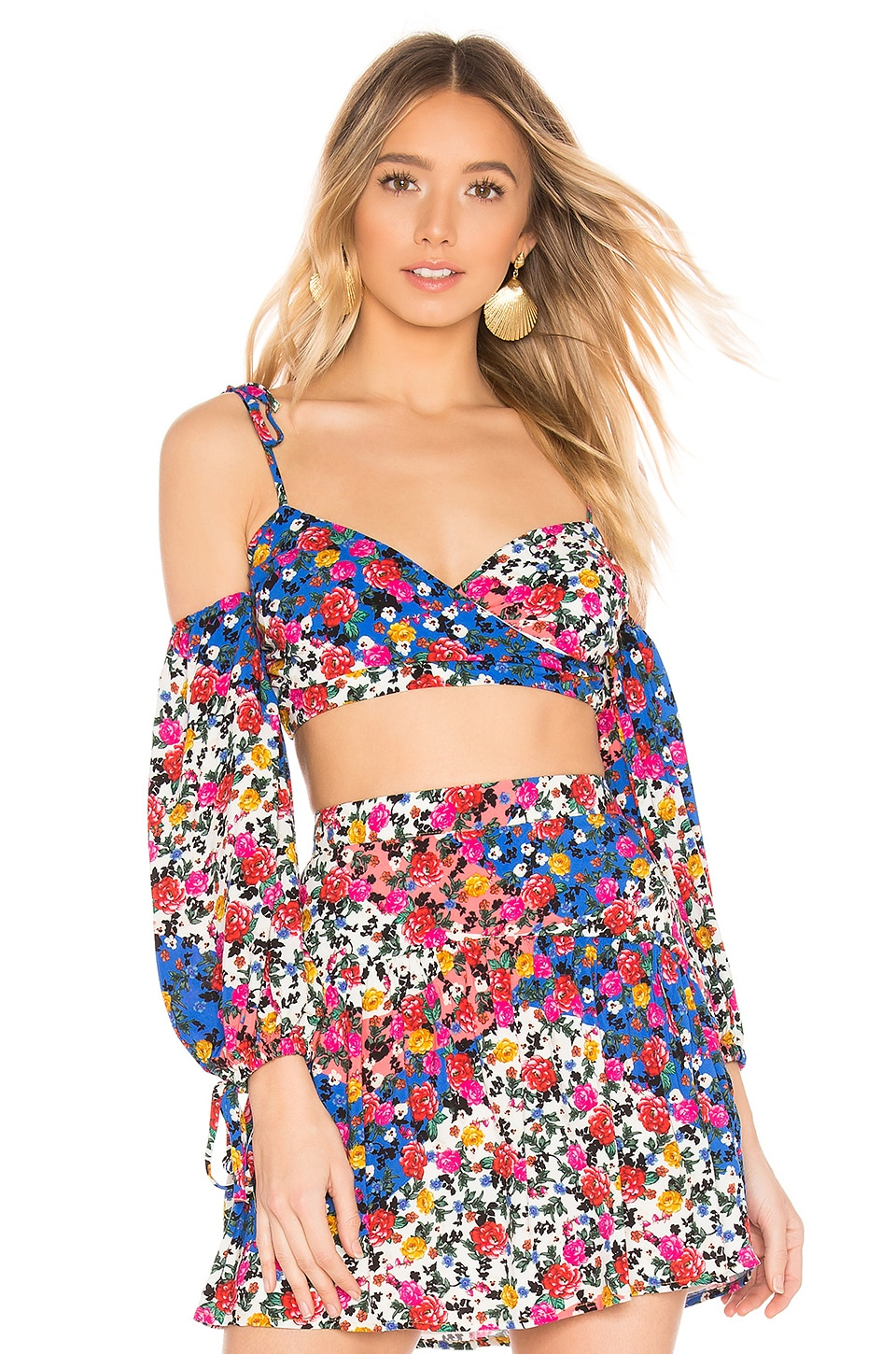 MAJORELLE Shannon Top in Patchwork Multi