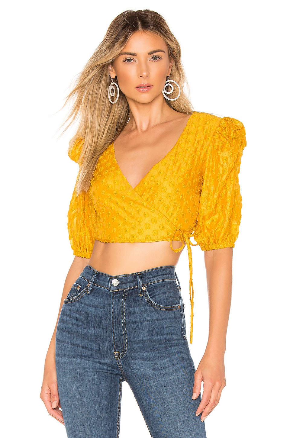 MAJORELLE Spencer Top in Mustard Yellow