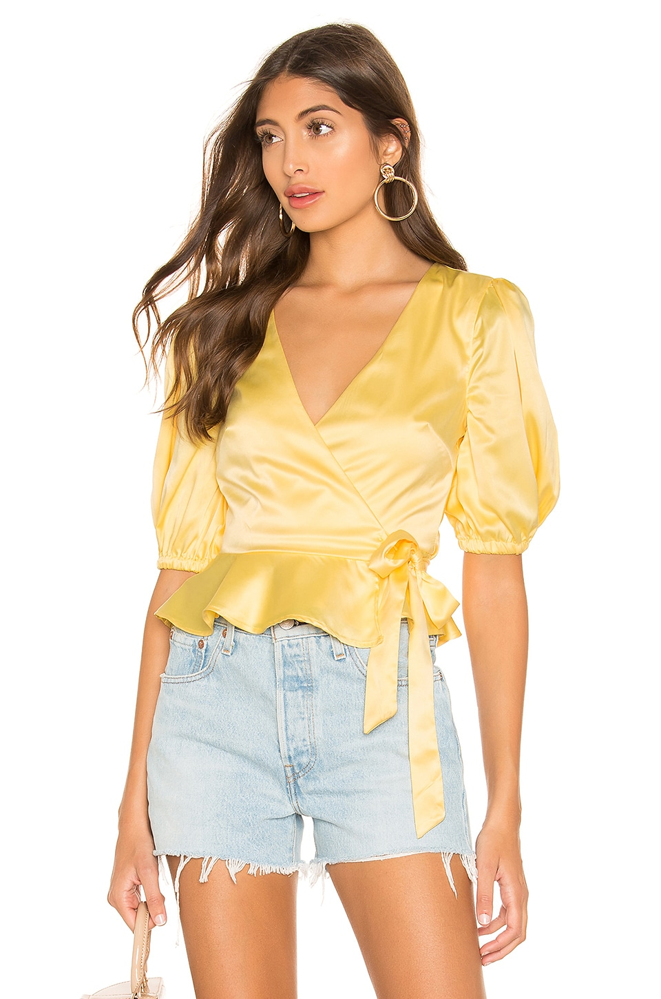 MAJORELLE Megan Top in Butter Yellow