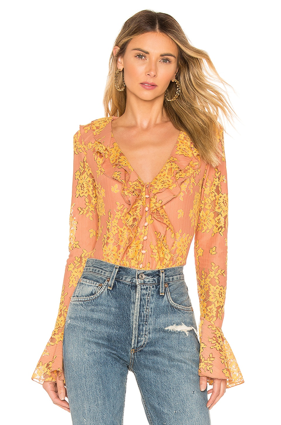 MAJORELLE Roma Top in Golden Blush
