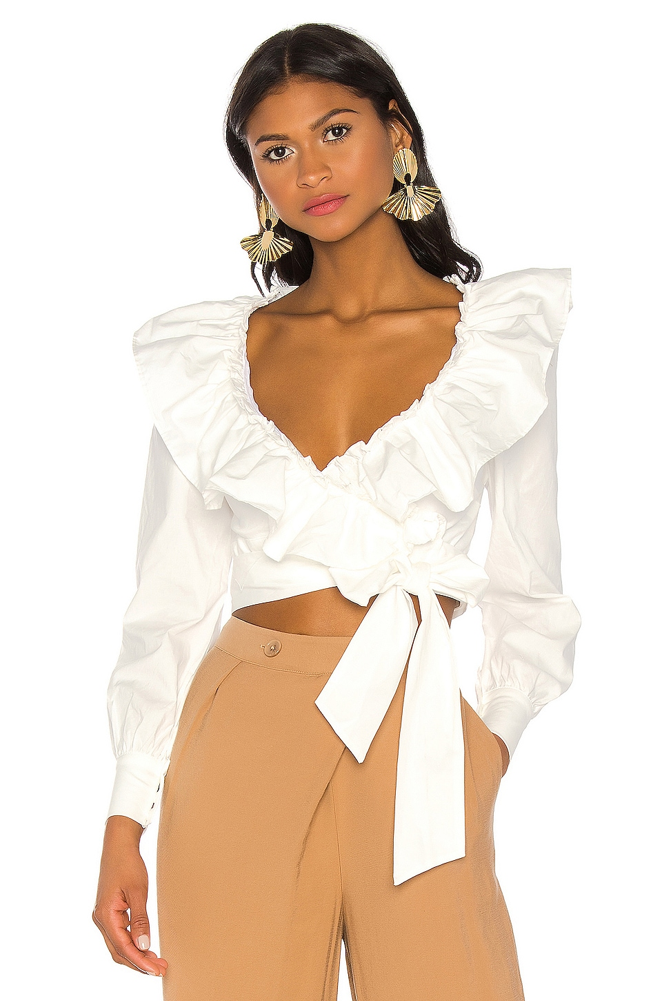MAJORELLE Ana Top in White