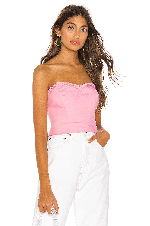 MAJORELLE Kenzie Top en Bubblegum Pink