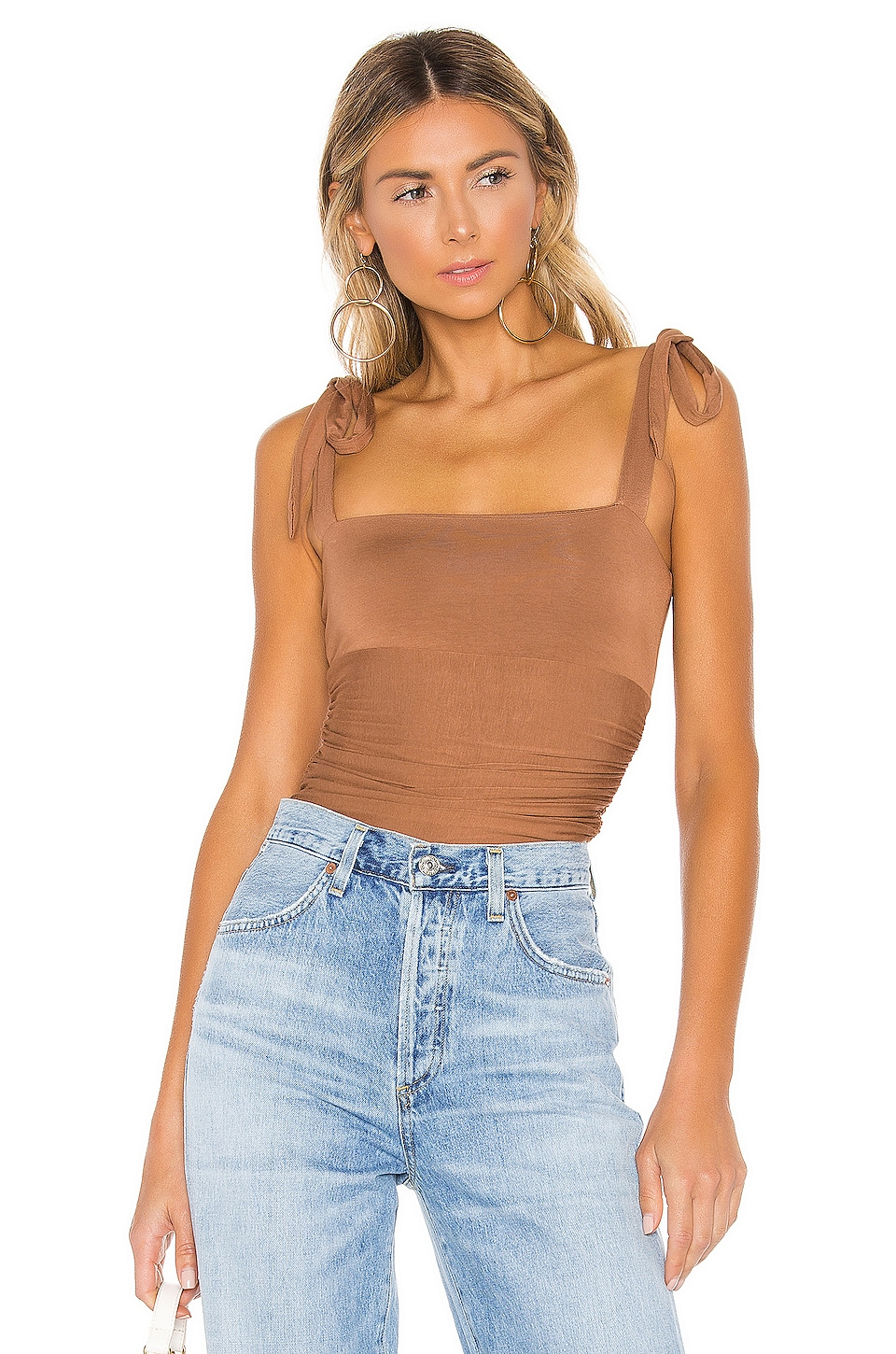 MAJORELLE Lauren Bodysuit in Brown Spice