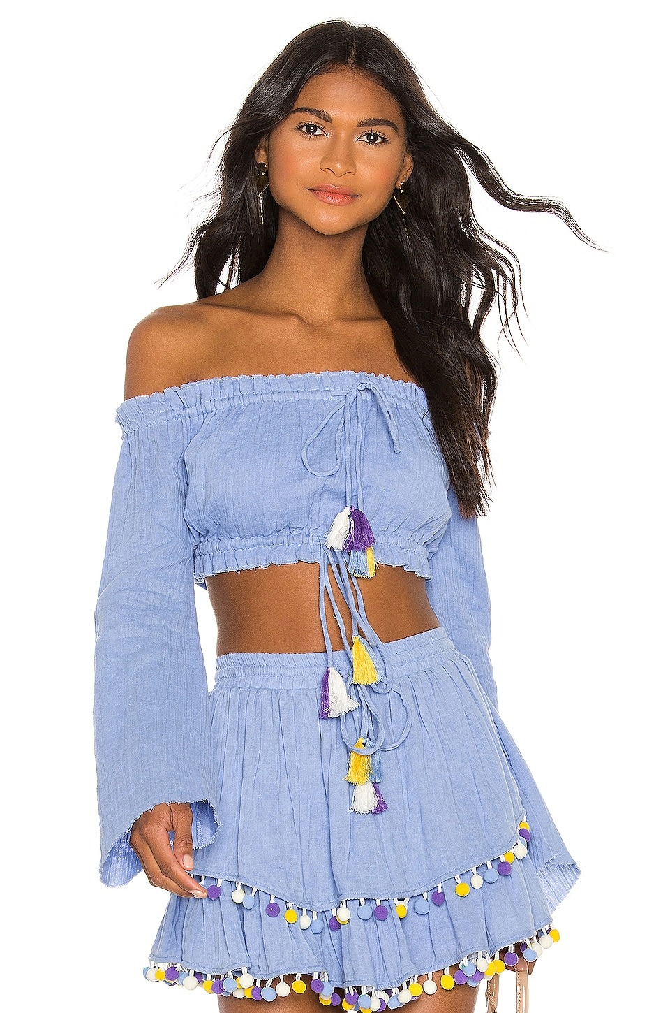 MAJORELLE Calypso Top in Powder Blue