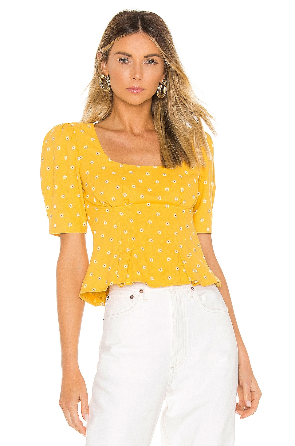MAJORELLE Marla Top in Tuscany Yellow