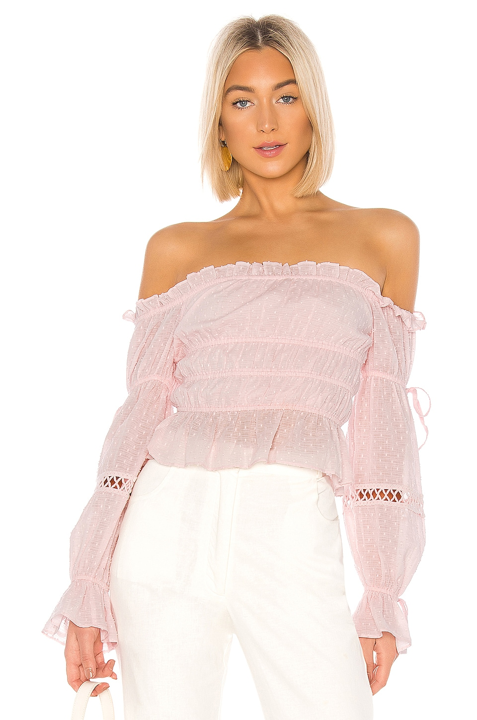 MAJORELLE Harrison Top in Baby Pink