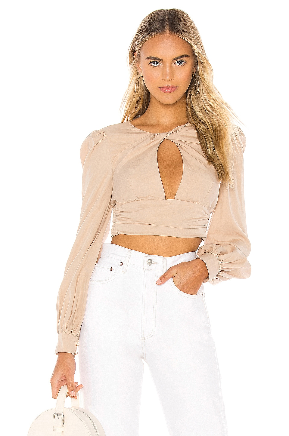 MAJORELLE Aiden Top in Taupe