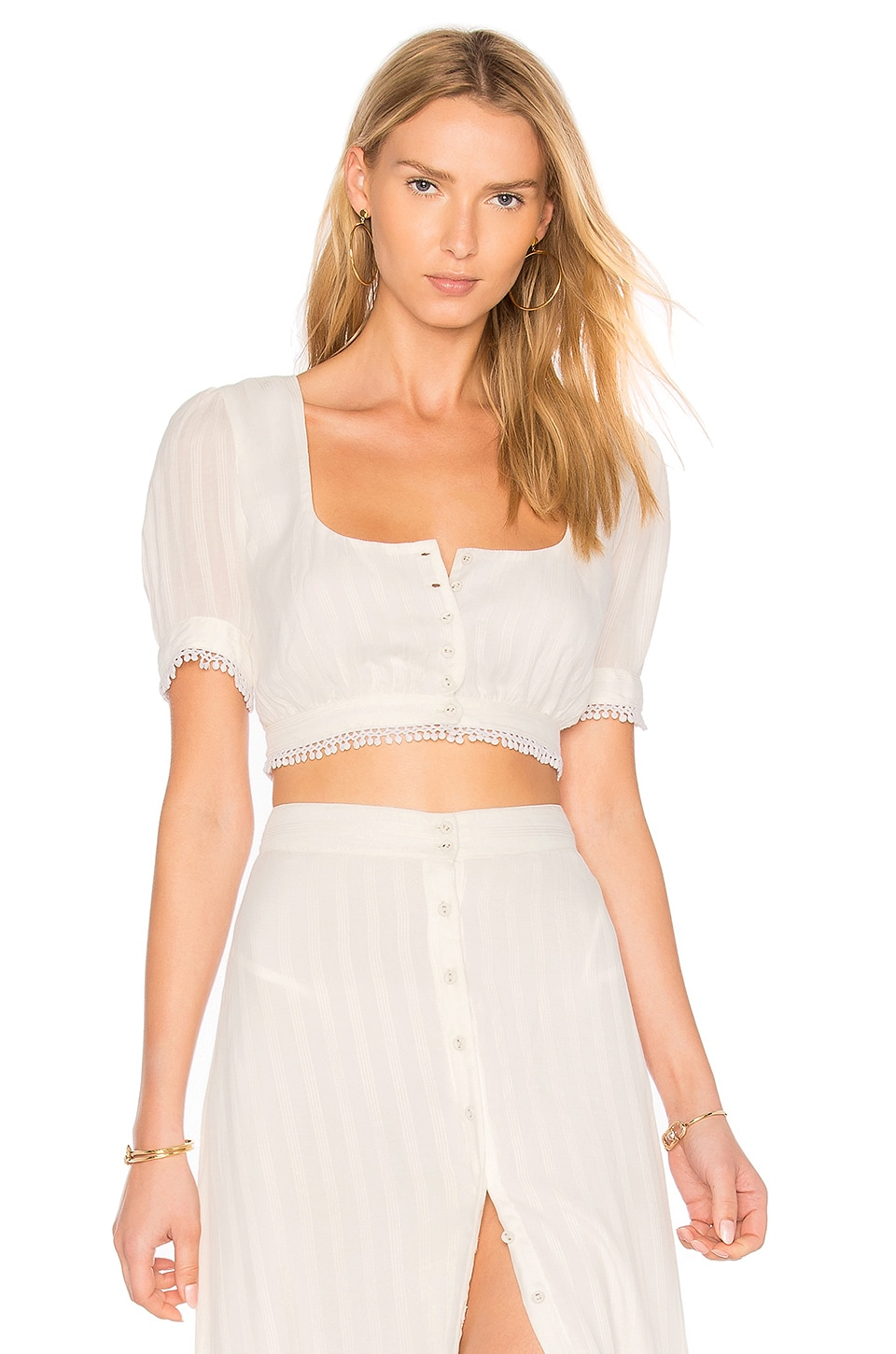 MAJORELLE Cactus Top in Ivory