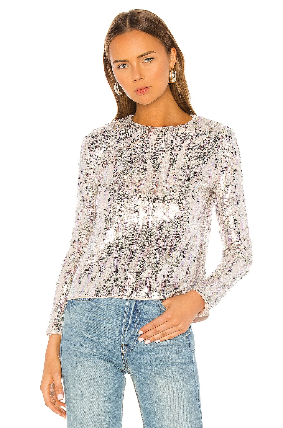 MAJORELLE Christiana Top in Shimmer Multi