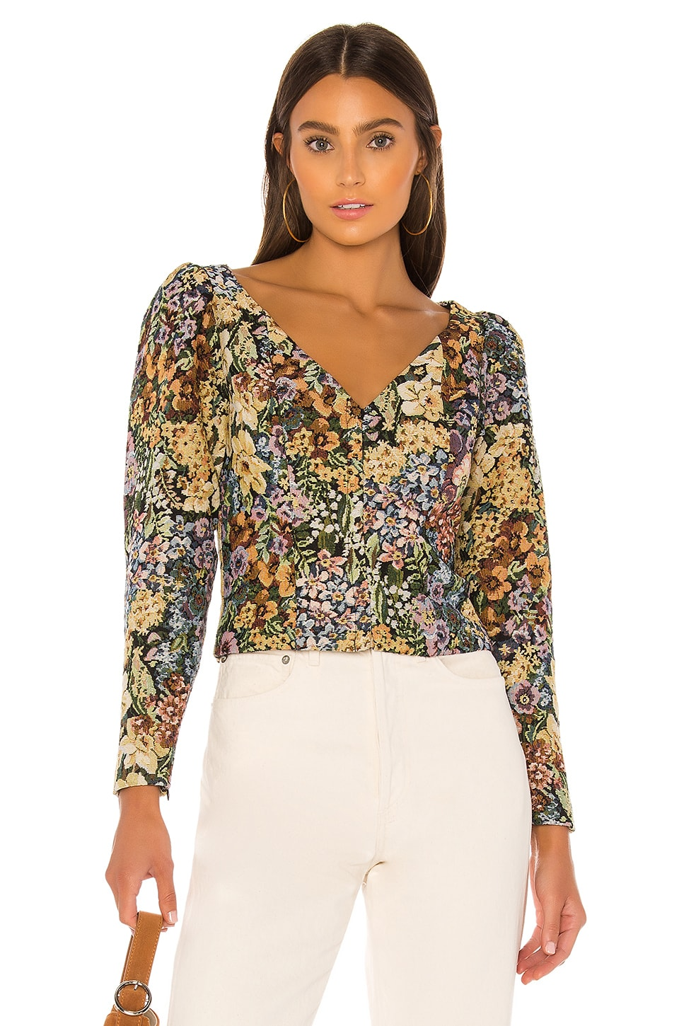 MAJORELLE Samson Top in Autumn Multi