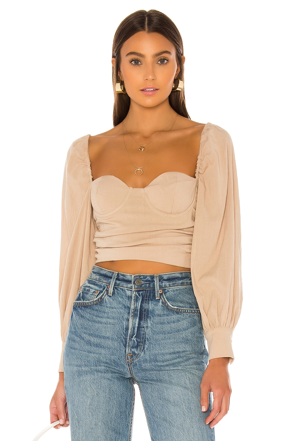 MAJORELLE Emily Top in Beige