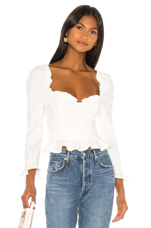MAJORELLE Corie Top In White