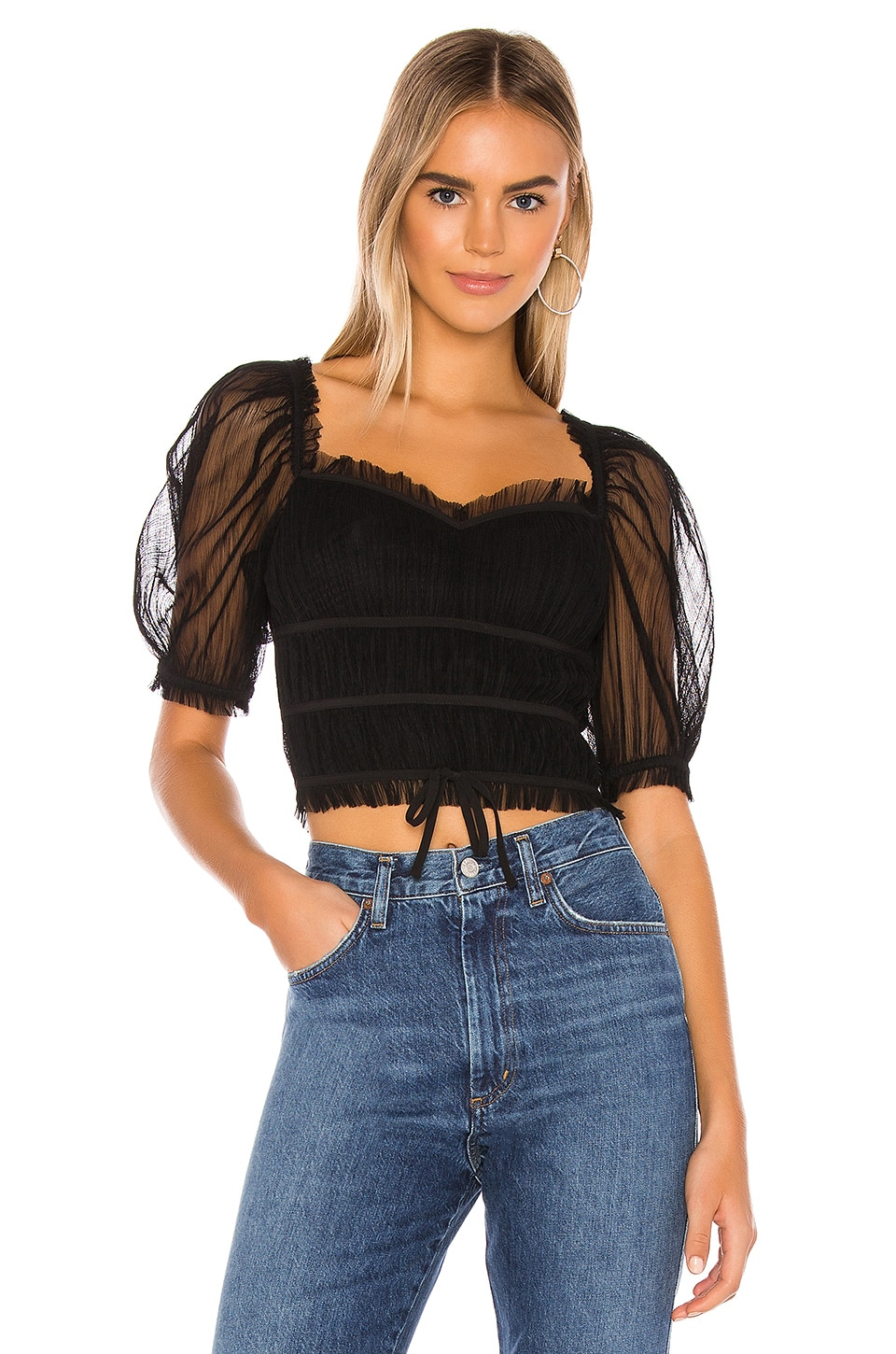 MAJORELLE Love Like This Top in Black