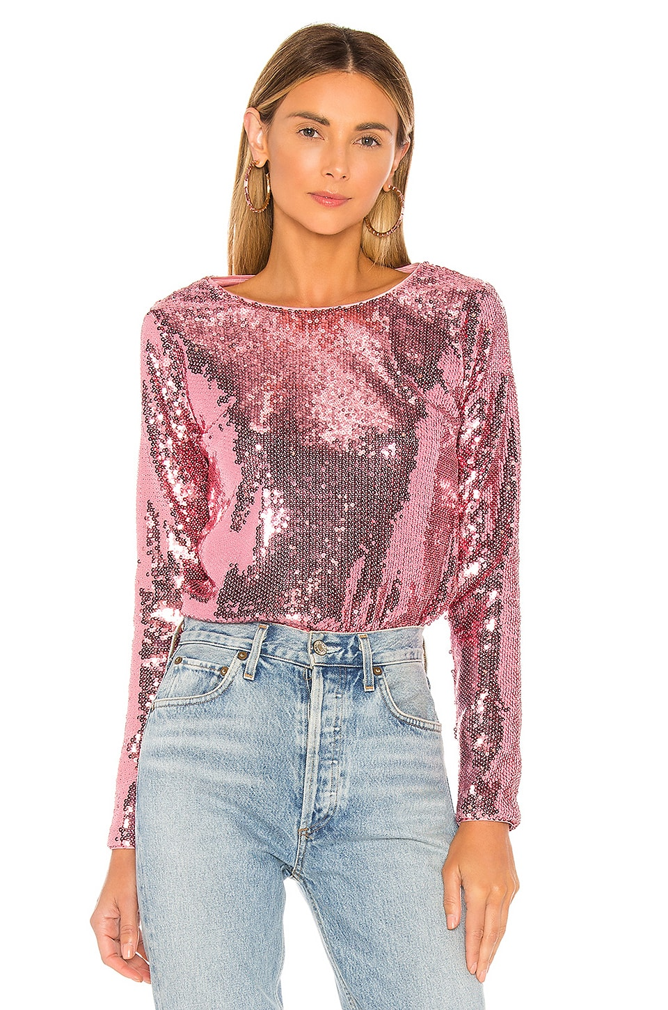 MAJORELLE Christiana Top in Disco Pink