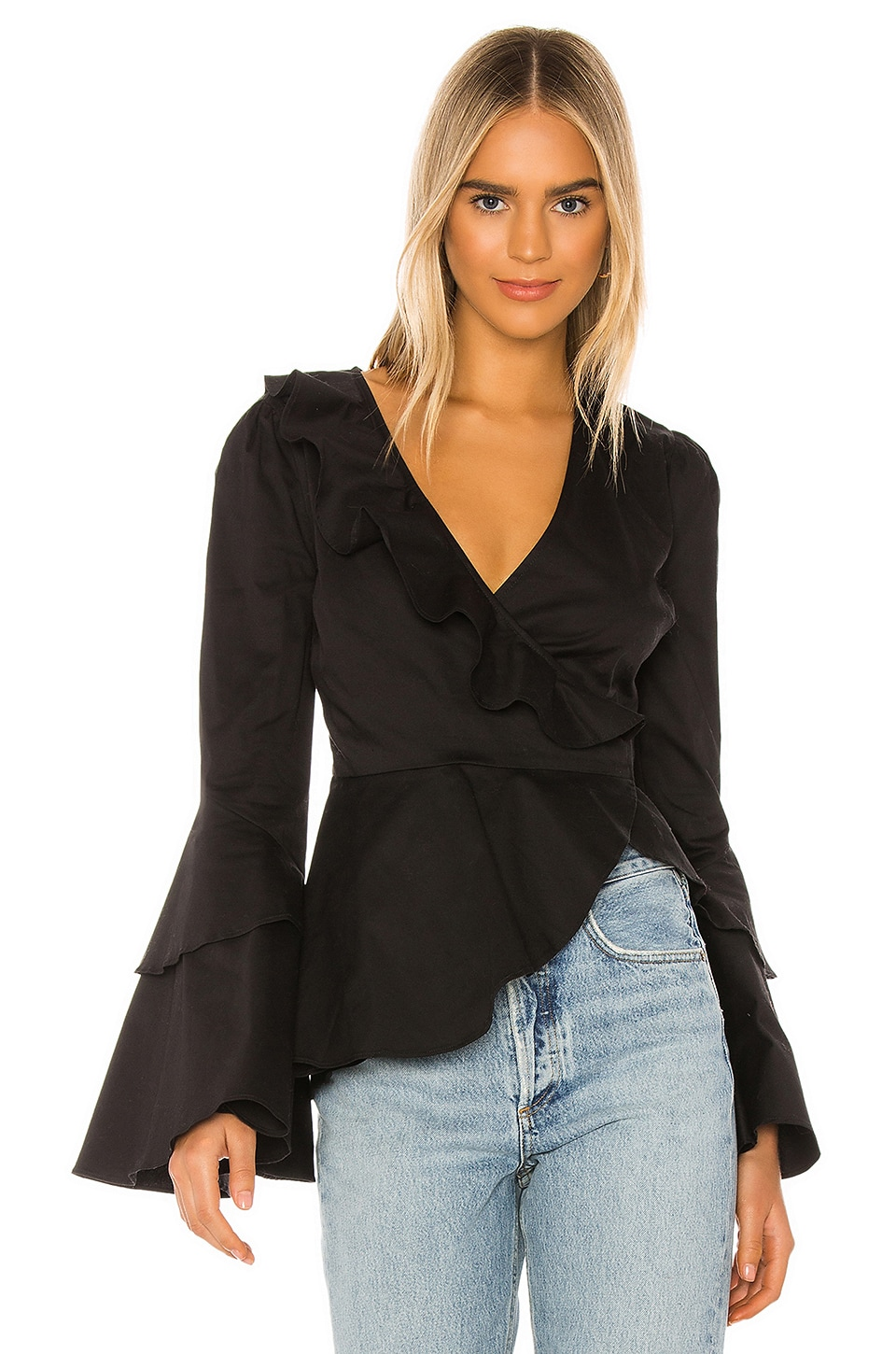 MAJORELLE Everleigh Top in Black