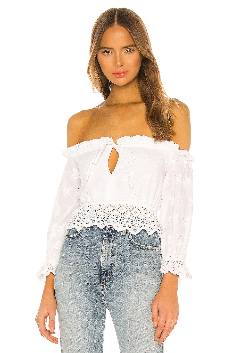 MAJORELLE Laurel Top in White