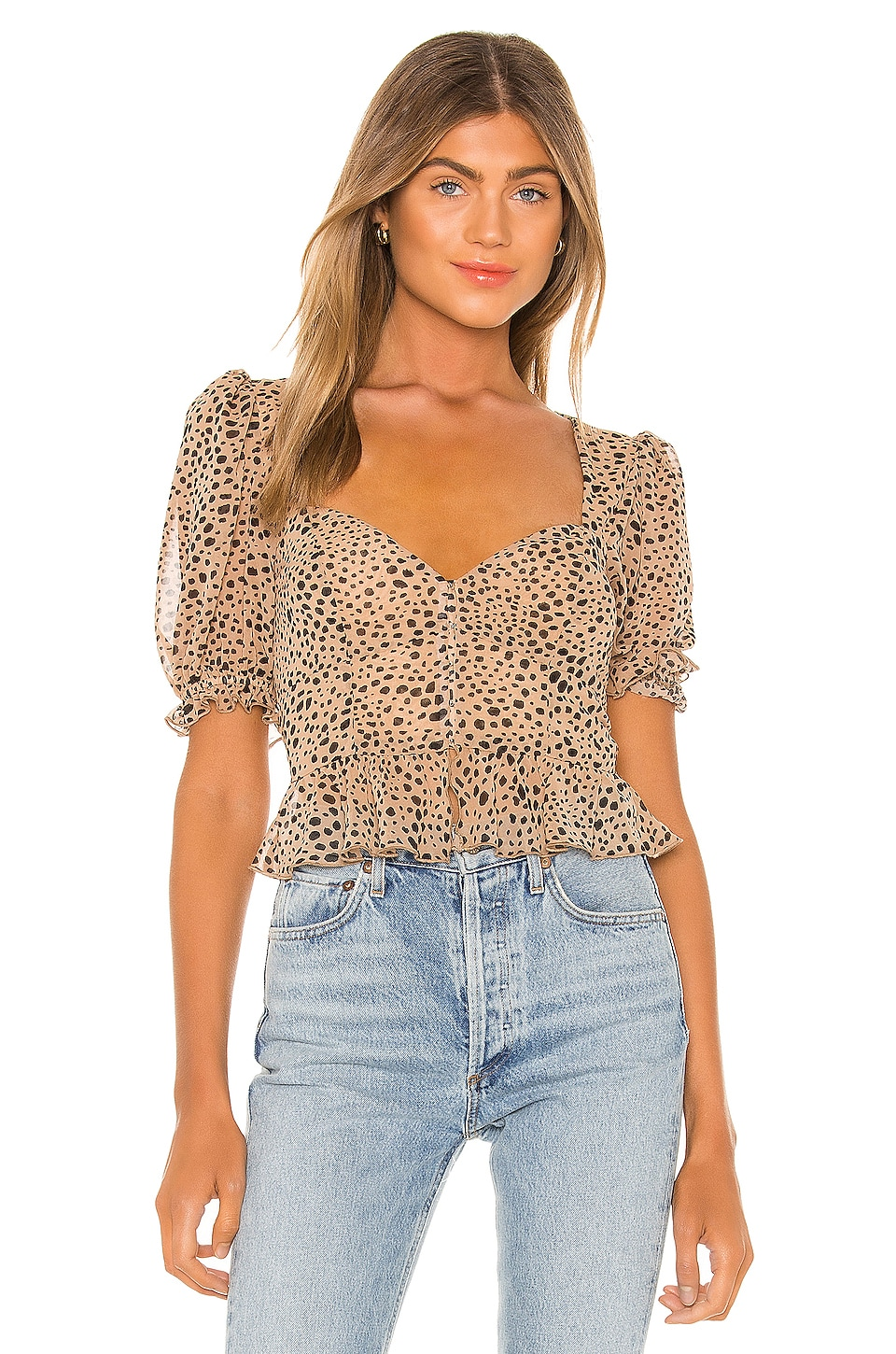 MAJORELLE Pacific Top in Natural Leopard