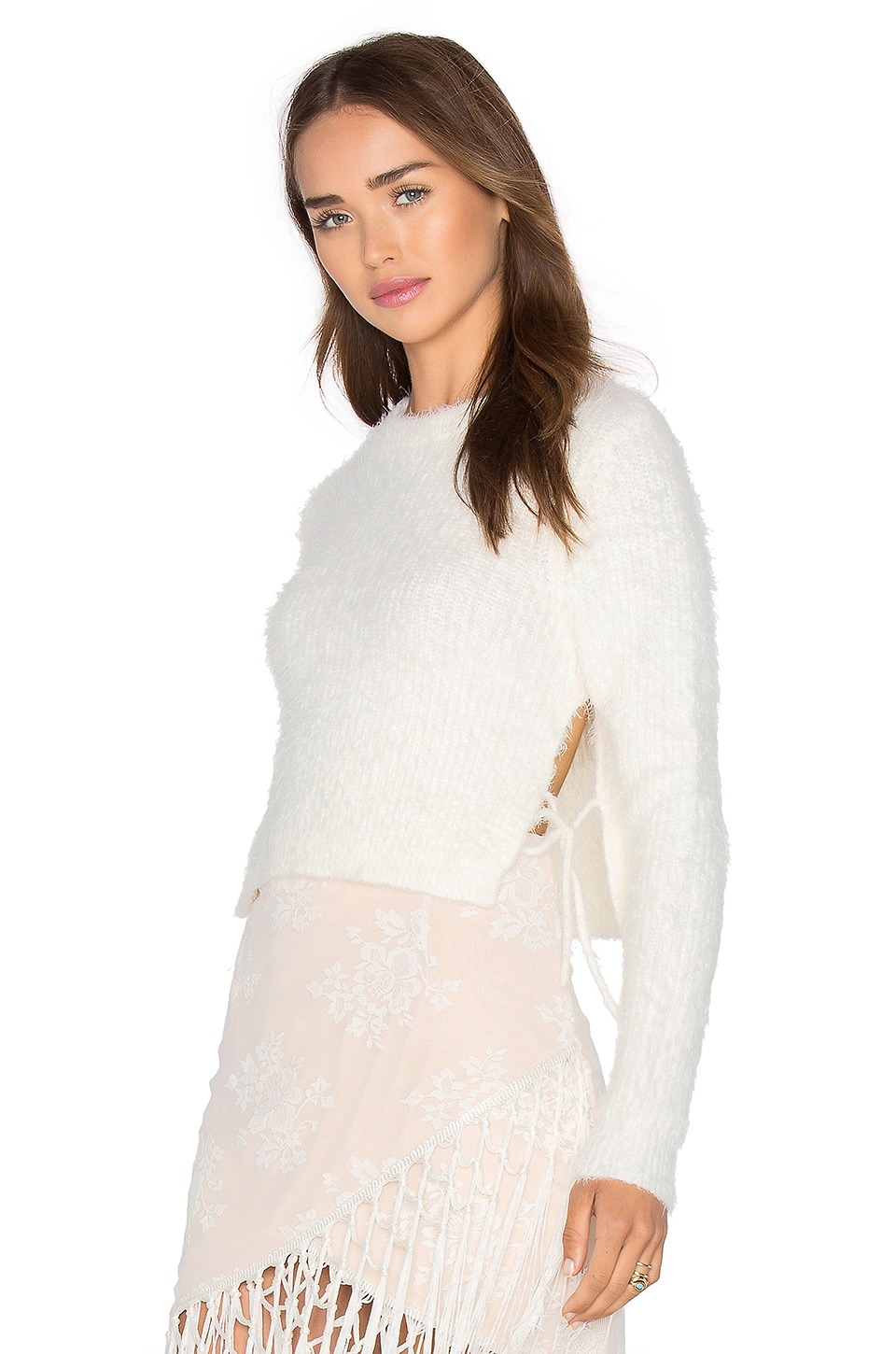MAJORELLE Marjorie Sweater in Ivory