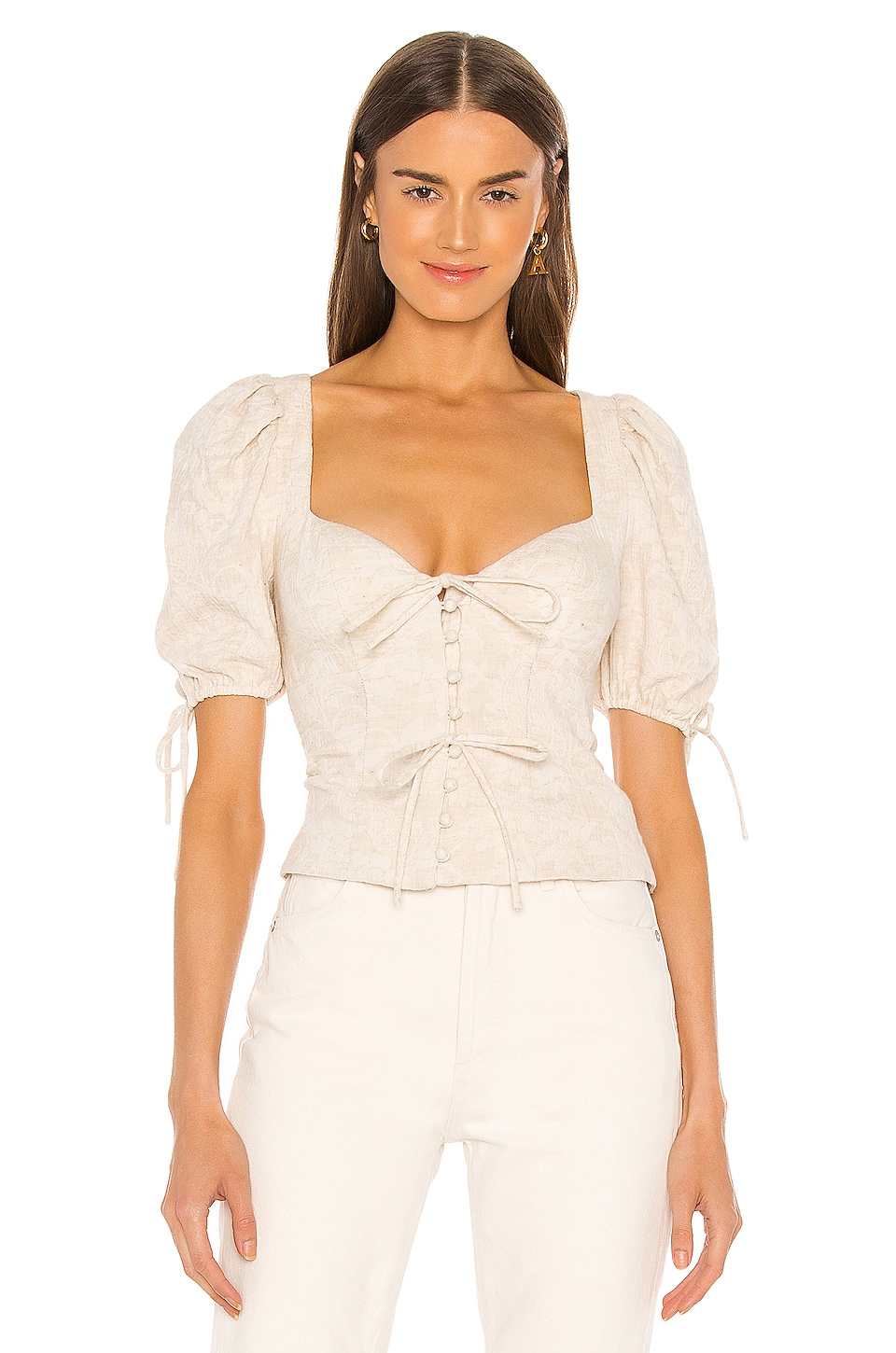 MAJORELLE Cordova Top in Oatmilk
