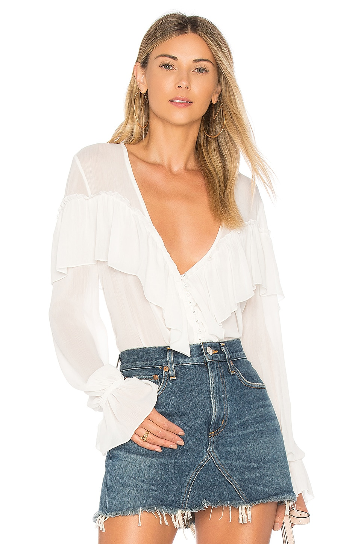 MAJORELLE Mariel Blouse in White