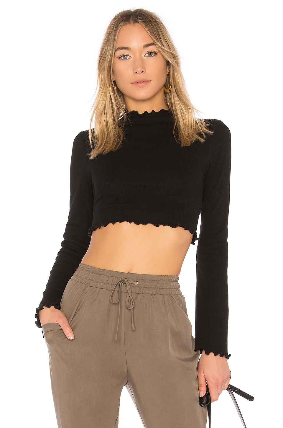 MAJORELLE Rosalind Top in Black