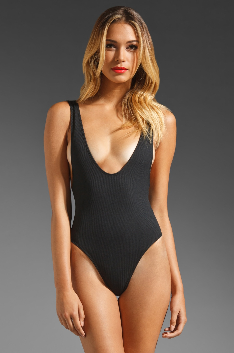 MINIMALE ANIMALE The Babe One Piece in Black Sun Rib