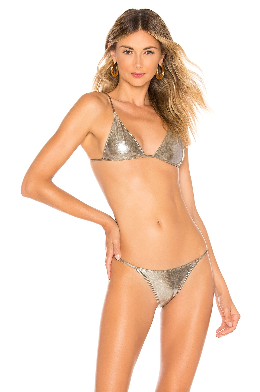 MINIMALE ANIMALE Lucid Bijou Bikini Top in Eclipse Shimmer