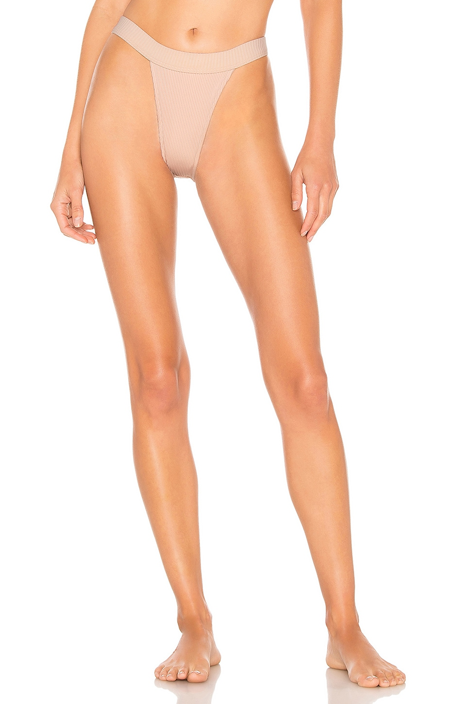 MINIMALE ANIMALE Overdrive Rib Brief Bikini Bottom in Island