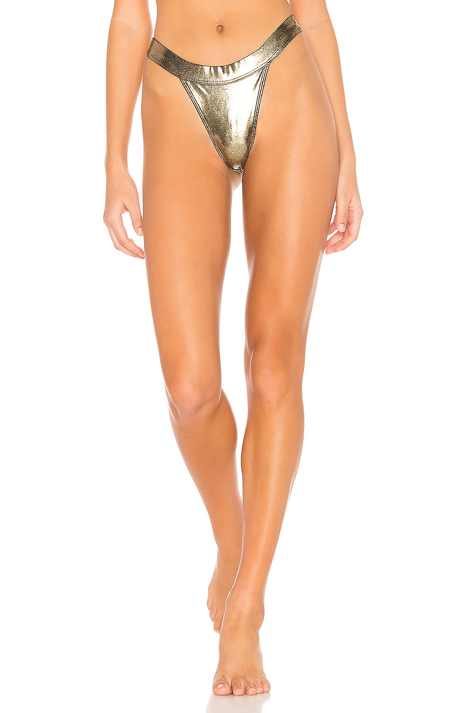 MINIMALE ANIMALE The Overdrive Brief Bikini Bottom in Star Fire Shimmer