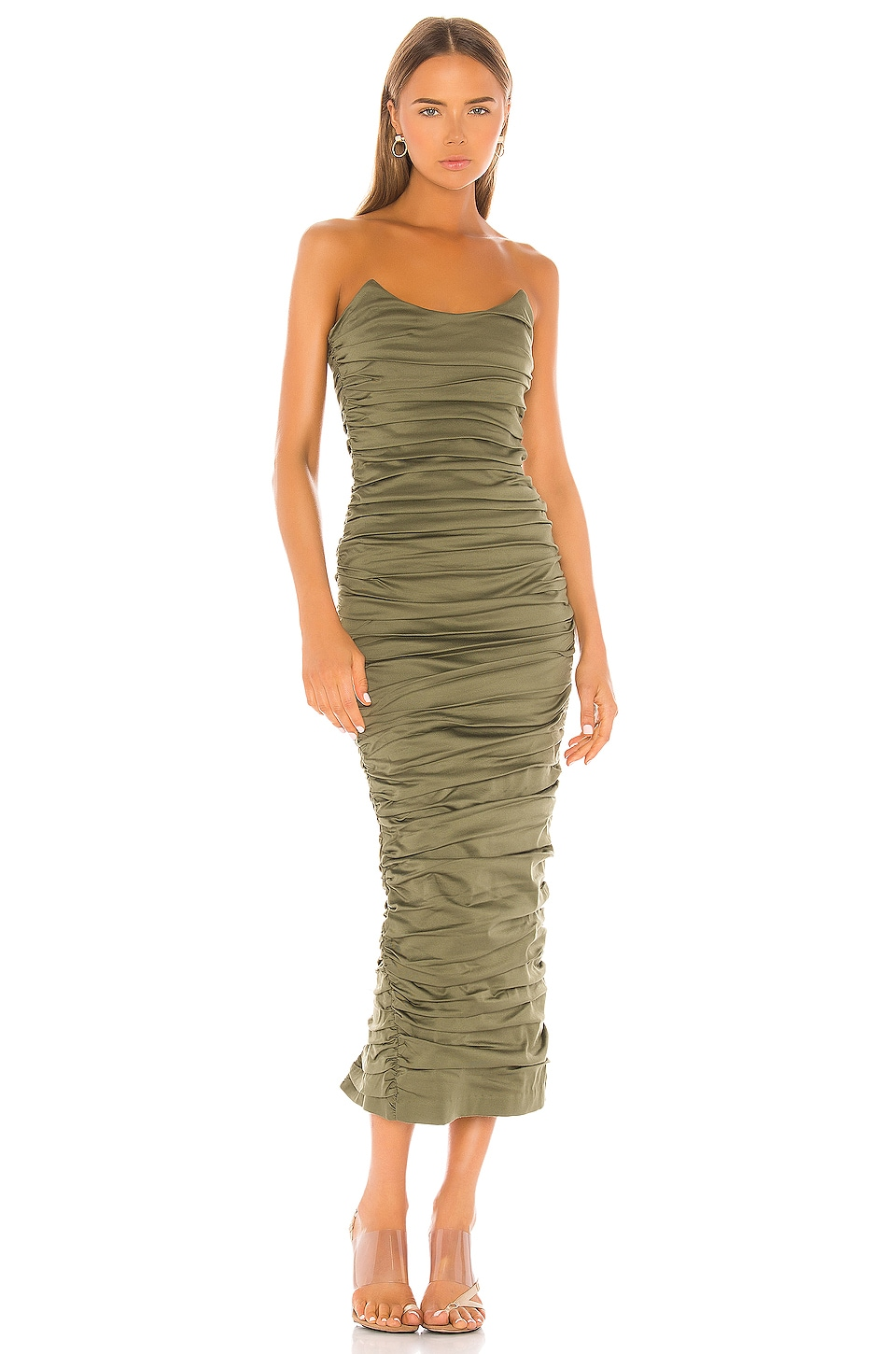 Miaou Angelina Dress in Olive