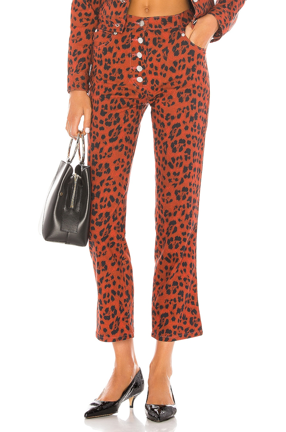 Miaou Junior Pant in Red Leopard