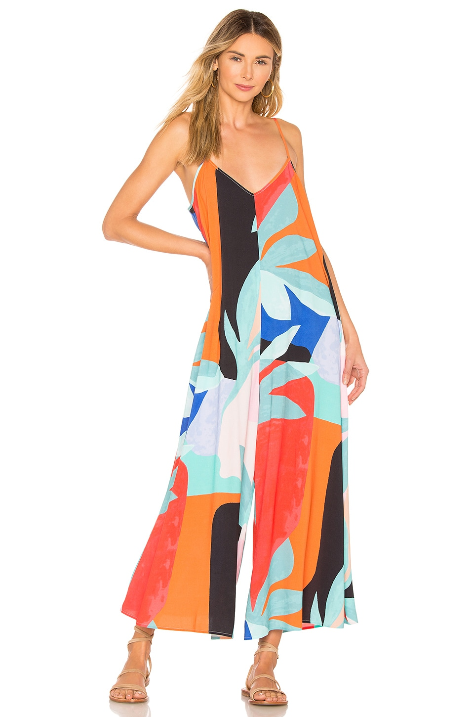 Mara Hoffman Carly Jumpsuit in Black Multi