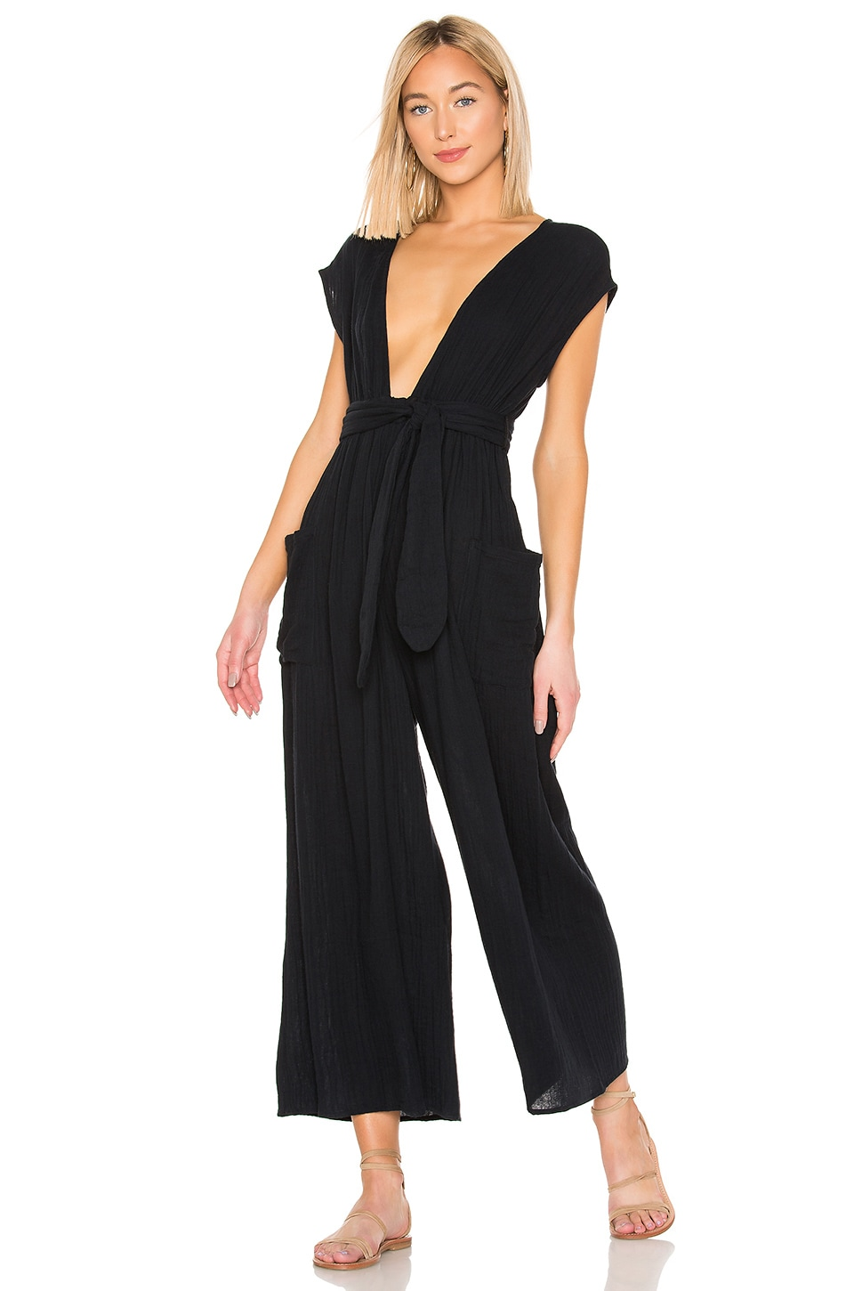 Mara Hoffman Whitney Jumpsuit in Black