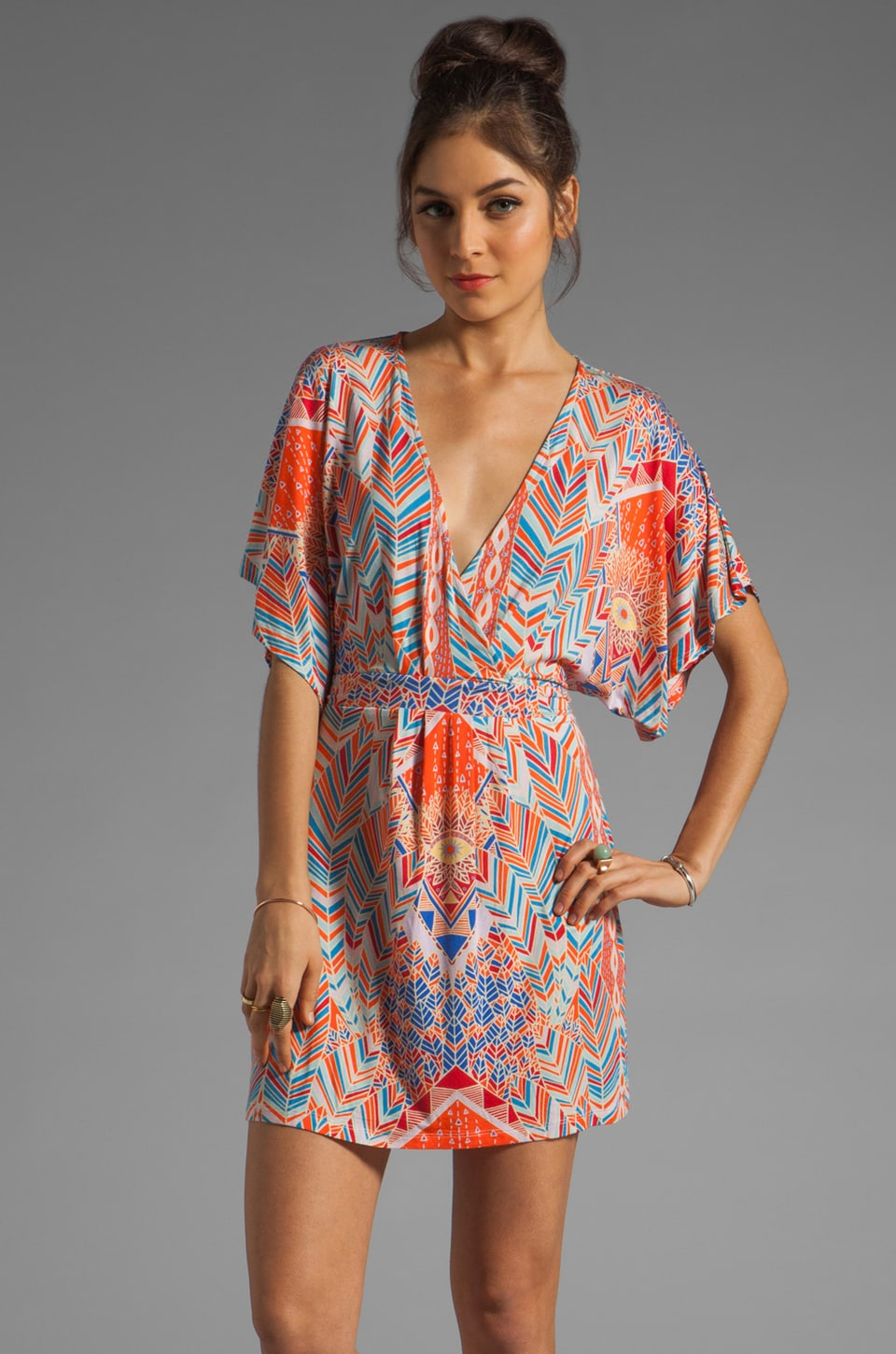 Mara Hoffman Printed Kimono Wrap Dress in Palms