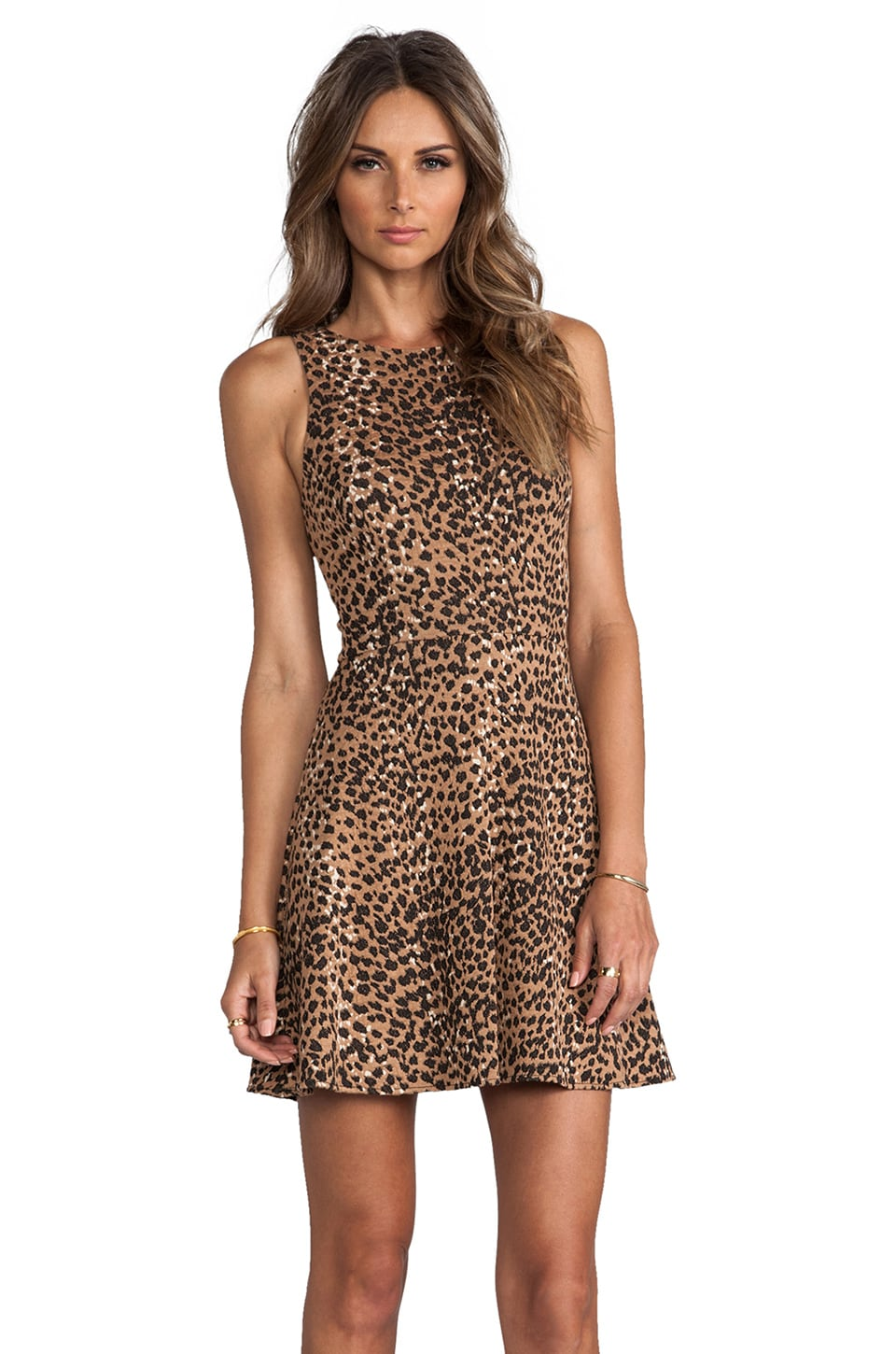 Mara Hoffman Circle Dress in Leopard
